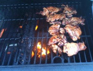 Chicken on the grill!